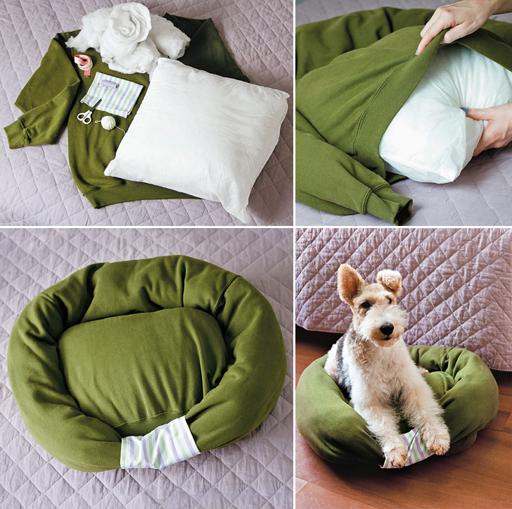 DIY pet bed for dachshunds